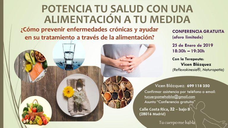 Potencia tu salud con una alimentación a tu medida [25-01-2019]