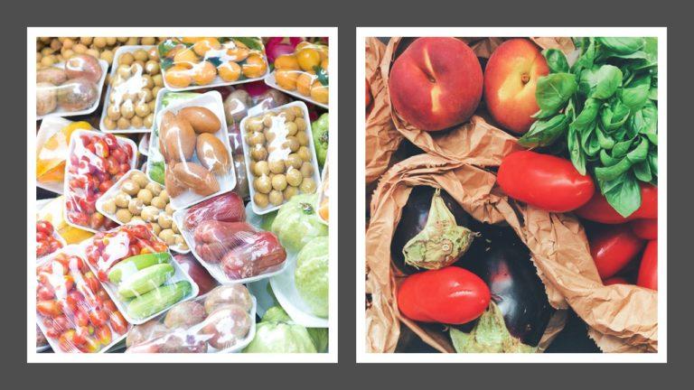 El plástico y los alimentos
