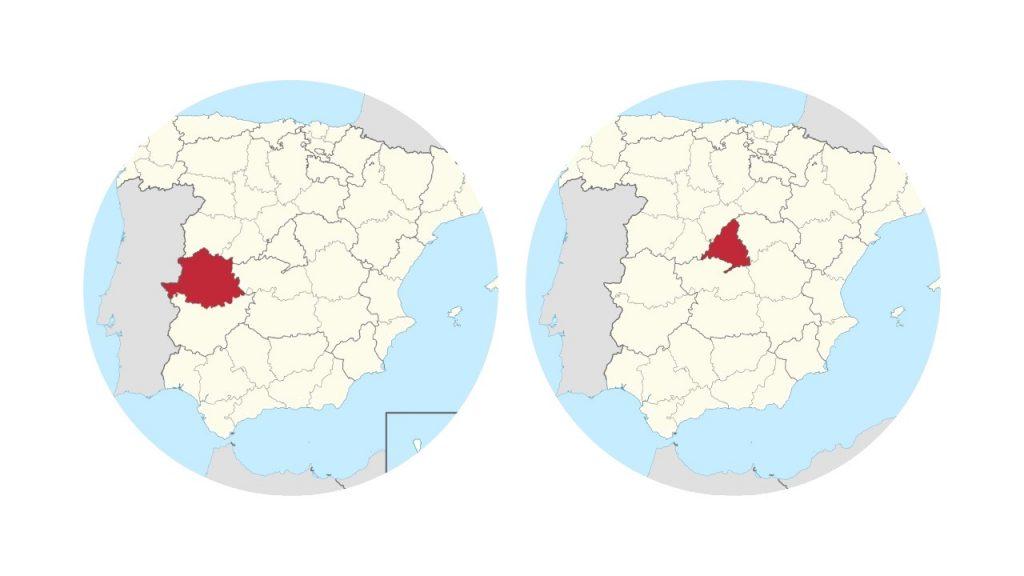 Cáceres y Madrid