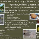 TALLER DE FERMENTADOS Y LECHES VEGETALES [Gredos – 18 y 19 de junio 2021]